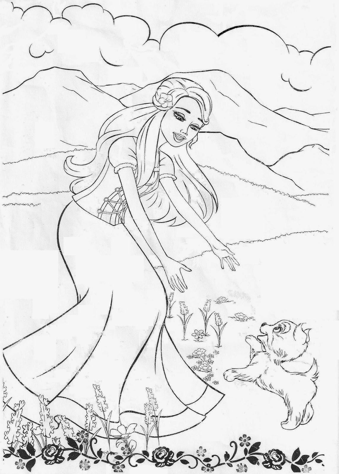 Beautiful Barbie Coloring Pages Game Ideas New Printable