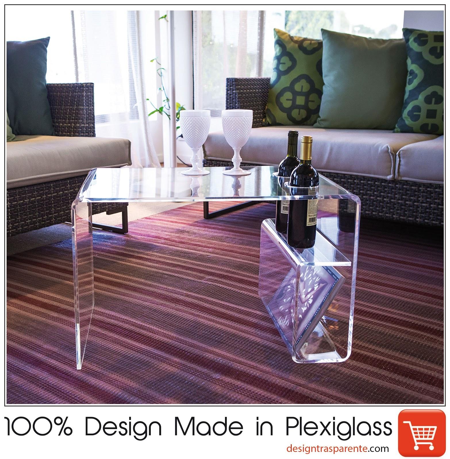 Tavolino con portariviste soggiorno