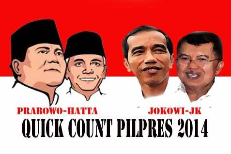Hasil Quick Count Pemilu Presiden 2014 (Perhitungan Cepat 9 Juli 2014)