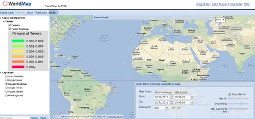 conoce de donde provienen los Tweets con Tweet Map
