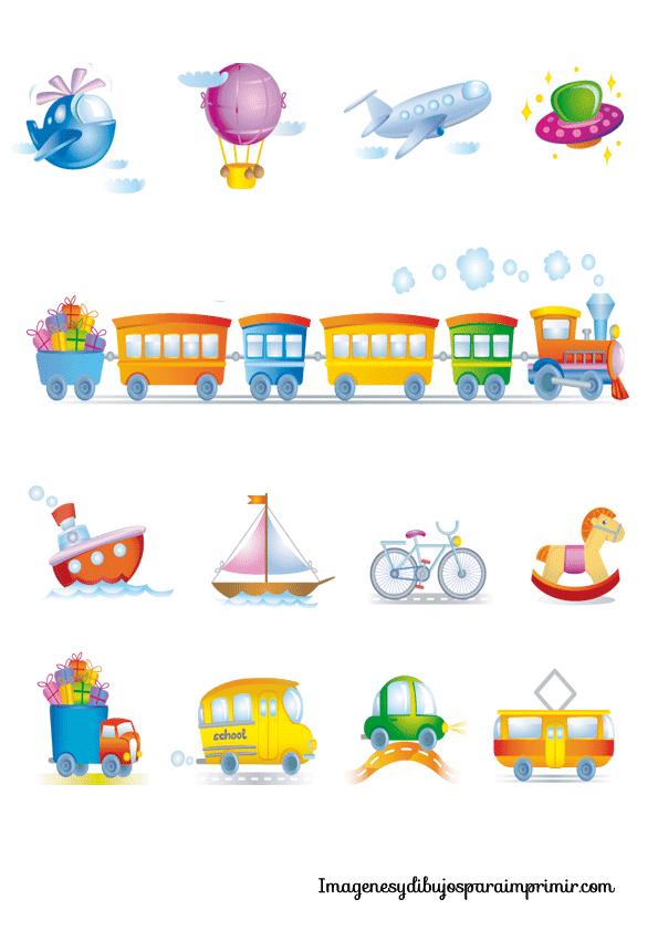 Transportes infantiles para imprimir