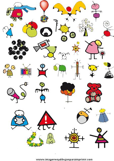 dibujitos de garabatos para niños