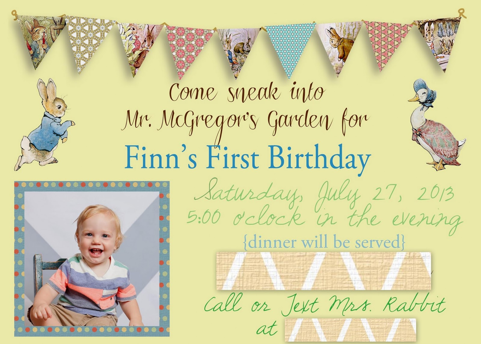 The French Family: Peter Rabbit Birthday Party