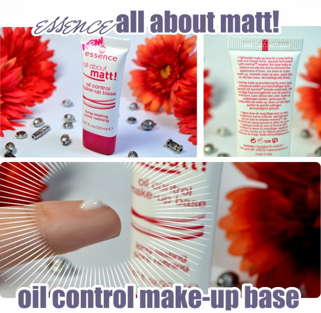essence Neuheiten Frühjahr 2014 # 2 - all about matt! oil control make-up base
