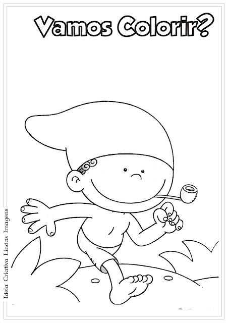 Desenho do Saci/Folclore para colorir