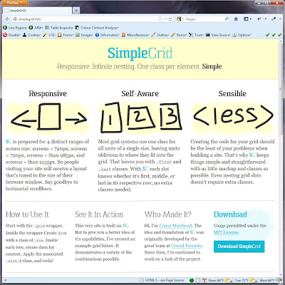 Screen shot of http://simplegrid.info/.