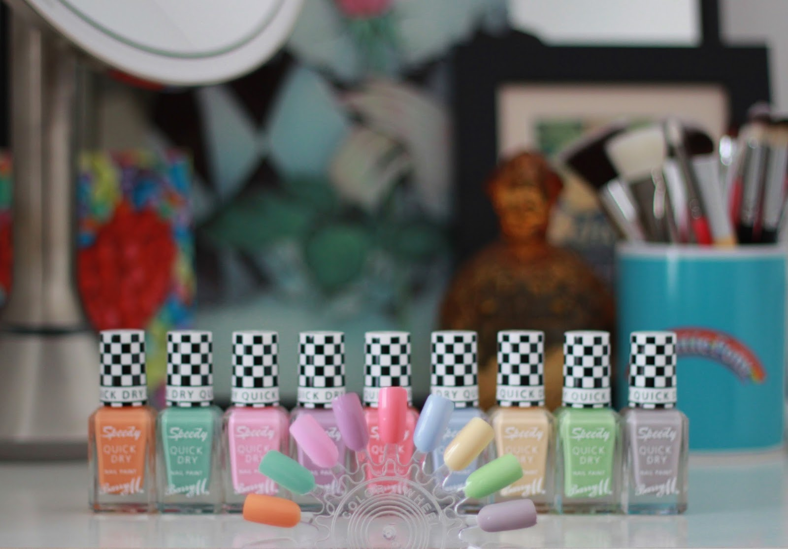 Barry M Speedy quick dry nail paint collection swatches