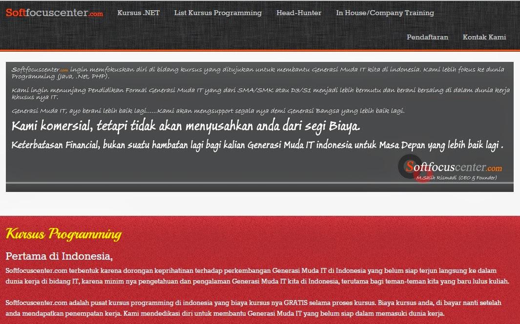 info kursus .net, softfocuscenter.com