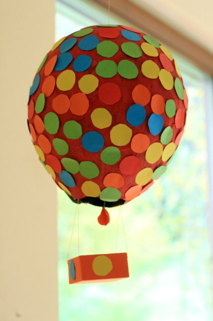 k v b a r n papier mache hot air balloon decoration