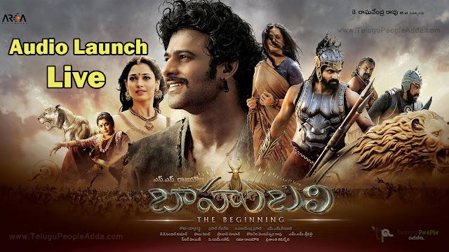 Baahubali Audio Launch Live  Prabhas  Rajamouli  Anushka