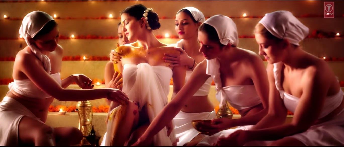 Sunny leone massage hot scene in desi look song wallpaper