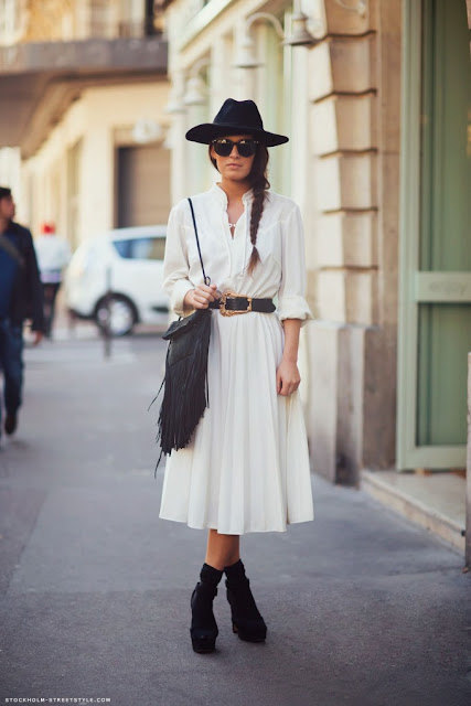 look boho chic blanco