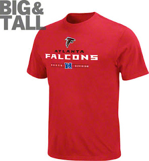 Big and Tall Atlanta Falcons Red T-Shirt