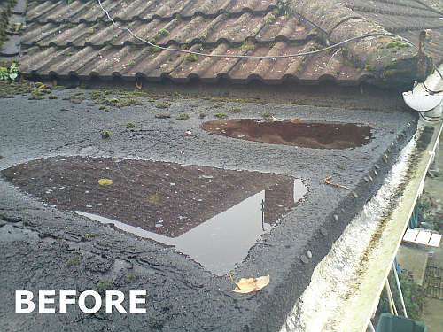 Flat roof specialist for Roof leaking in winter