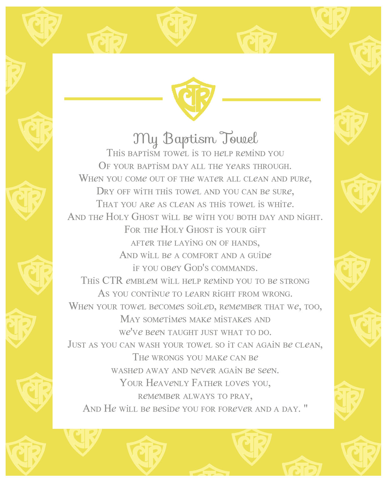 Lds Baptism Quotes Poems. QuotesGram