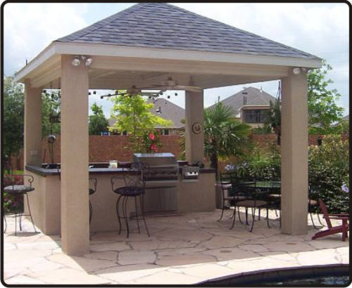 Kitchen remodel ideas sample outdoor kitchen designs pictures for Covered outdoor kitchen plans