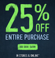 get 25% off hollister purchase august 18th