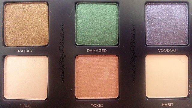 Urban Decay - Vice 2 Palette - RADAR-DAMAGED-VOODOO-DOPE-TOXIC-HABIT