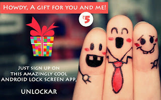 Refer unlockar app to your friends and get free recharge,online shopping voucher
