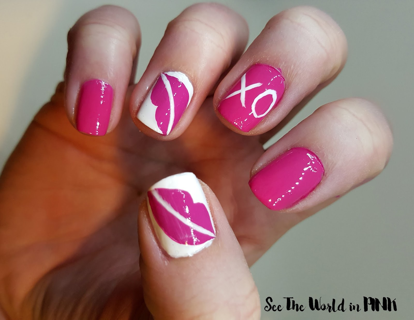 Manicure Monday (Valentine\'s Nail Art - Lips and Kisses) and Monthly ...