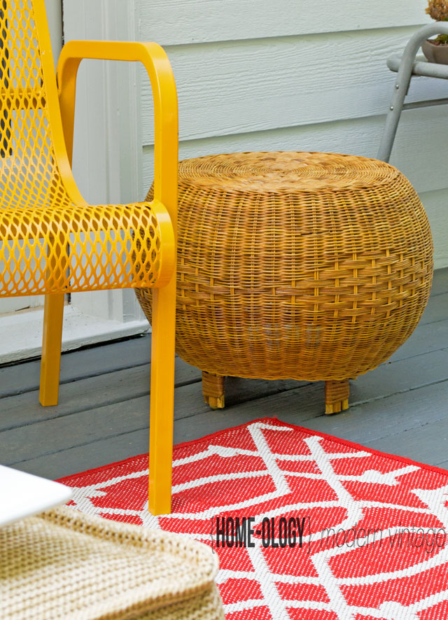 mid century modern wicker seating