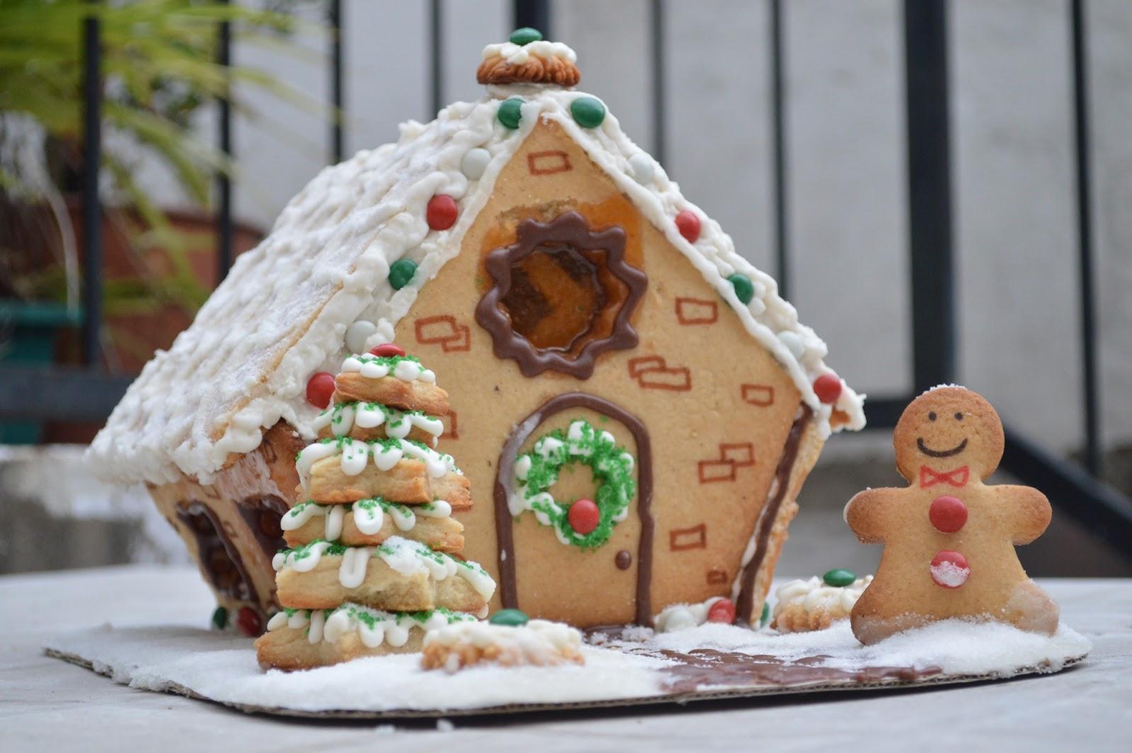 Casita de jengibre navide a sabor pastel for Casa jengibre