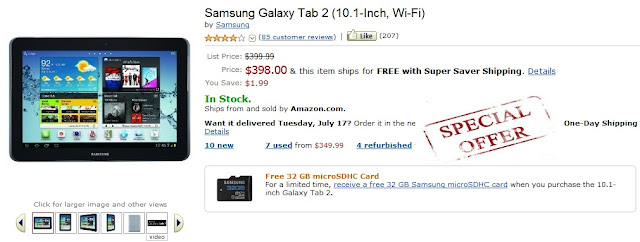 galaxy tab 2 coupon