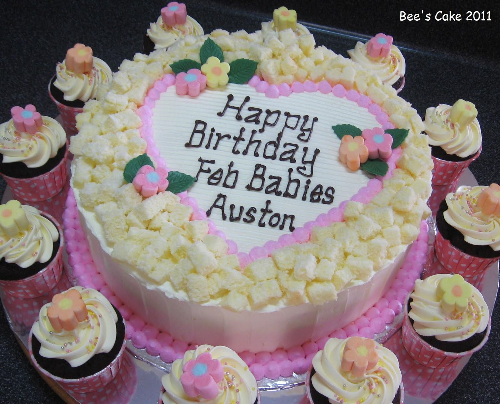 February Birthday Cakes Bees Cake Happy Birthday Feb Babies