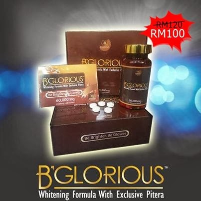 B'GLORIOUS: WHITENING FORMULA WITH EXCLUSIVE PITERA