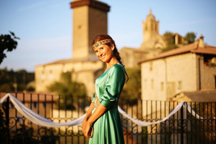 Look invitada vestido verde