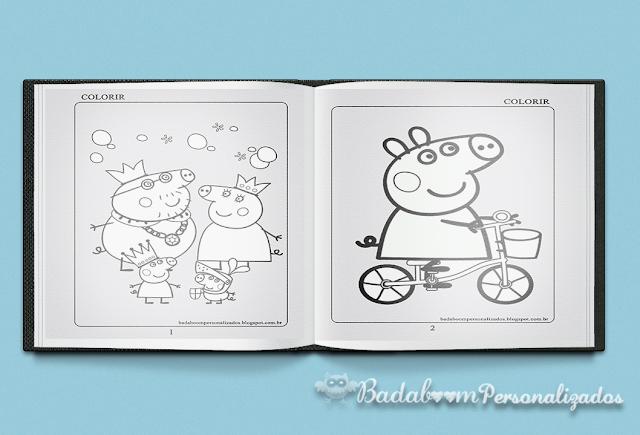desenhos para colorir, peppa pig, arte digital, kit digial, free, gráttis