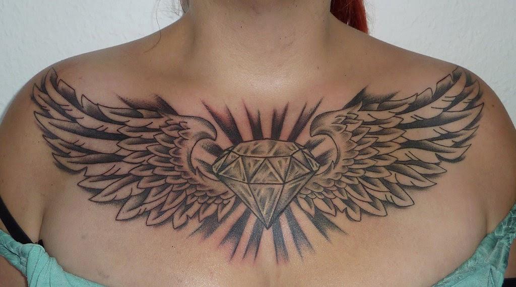 Diamond Tattoos For Men On Chest