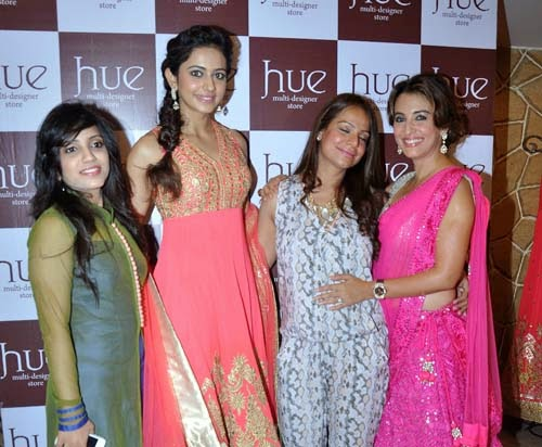 Celebs at Spring Summer 2014 Preview of Hue Store