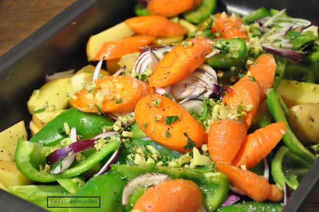 patate peperoni al forno