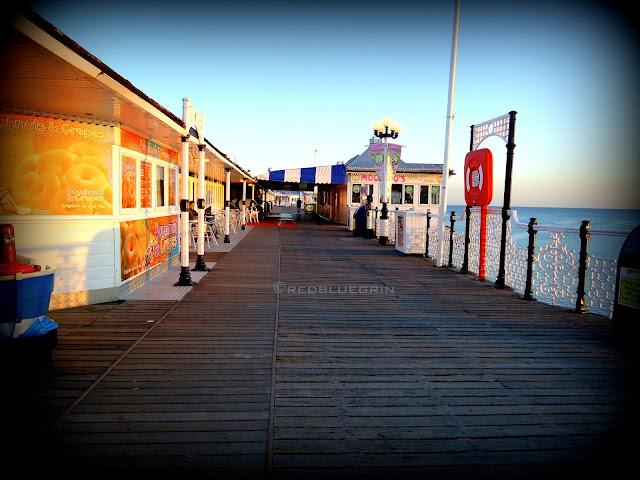 Deck of Brighton Pier, Brighton,UK