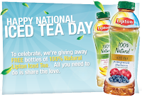 Free Natural Lipton Iced Tea