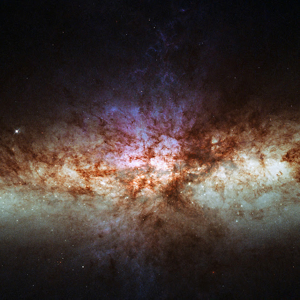 New Hubble view of the core of M82, the Cigar Galaxy