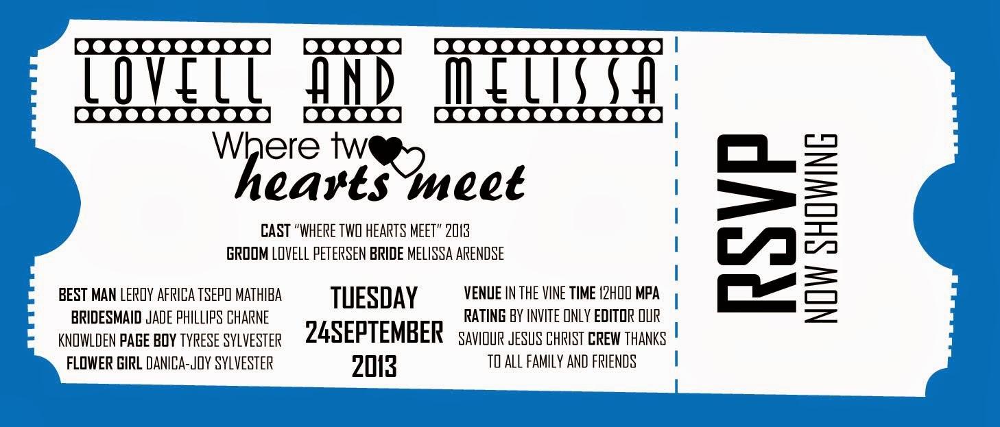 Movie Theme Wedding Invite | nm*creativ blog