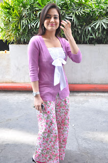 Aksha in lavender Color Top Looking Beautiful cute at Mc Donald opening