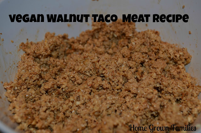 Vegan walnut taco meat recipe