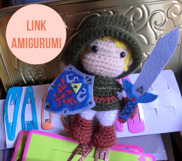 Amigurumi de Link, the legend of Zelda, con patrón