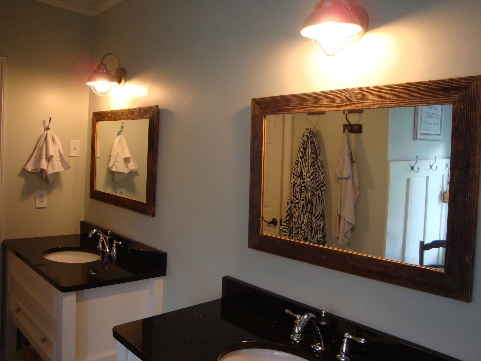 Barnwood framed mirror