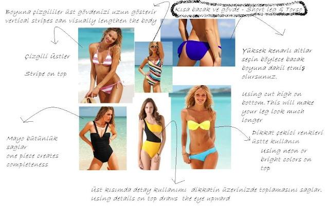 kısa bacak ve gövdeler için bikini mayo modelleri