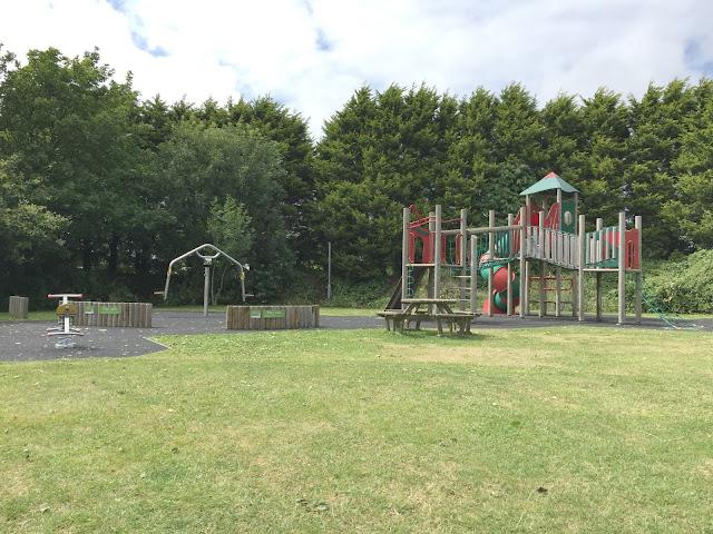 The children's playground at Hillhead Caravan Club site