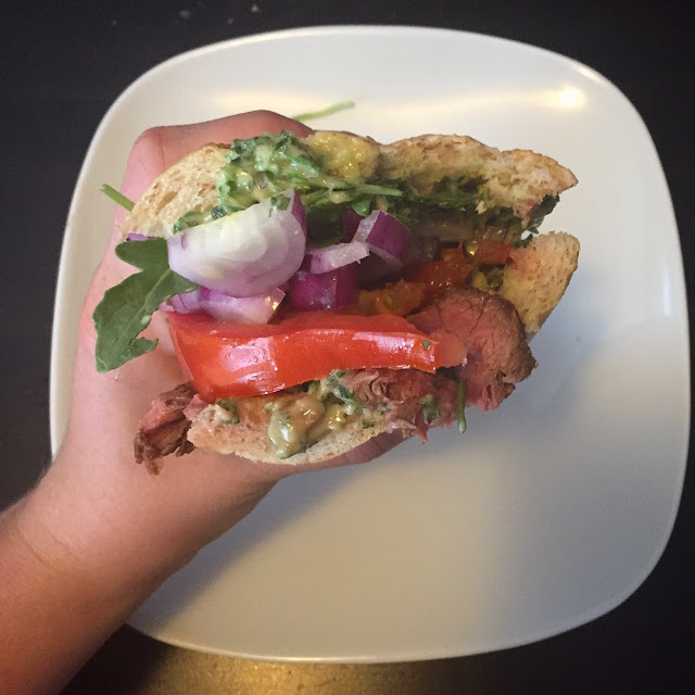 Steak Sandwiches with Homemade Pesto Mayo