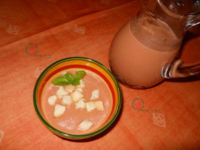 Gazpacho de albahaca.