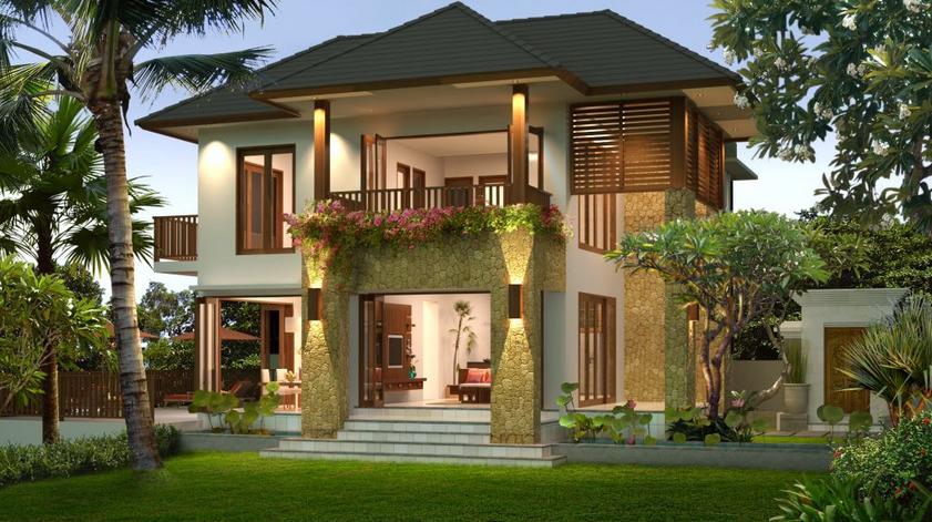 Contoh Desain Rumah Villa Minimalis Modern Terbaru