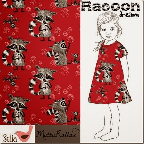 Racoon Dreams Punainen