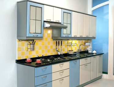 Nice In A Single Wall Modular Kitchen, The Entire Interior Design Is Placed On  Any One Wall. It Enables The Person Preparing The Meal To Move Around The  ...