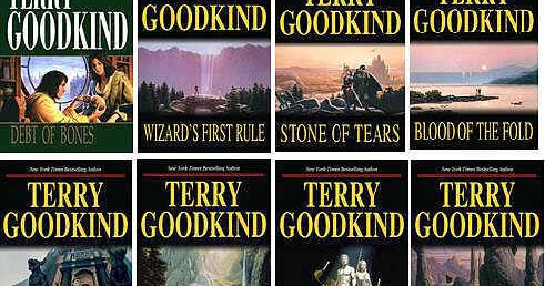 LOT OF 10 TERRY GOODKIND PAPERBACKS- SWORD OF TRUTH SERIES
